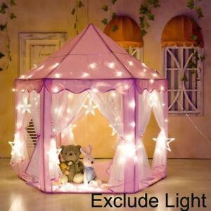 Girls-Pink-Princess-Castle-Cute-Playhouse-Children-Kids-Play-Tent-Outdoor-Toys