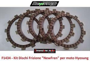 F1434-KIT-DISCHI-FRIZIONE-034-NewFren-034-per-Hyosung-RT-125-D-Karion-dal-2007-al-2009