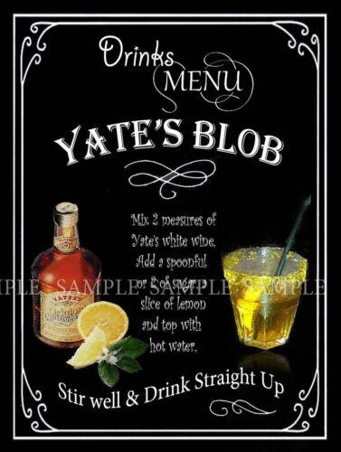 Yates de Blob: Rétro Conçu Métal Signe Pub club Cadeau homme Hangar Maison Bar Bar