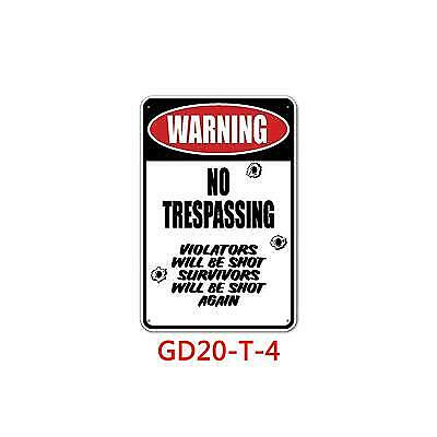 Metal Sign No Trespass Do Not Enter Gun a*shole alcohol Wall Cave Shop Store Art
