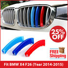 M-Tech Kidney Grill Grille 3 Colour Cover Clips for BMW X4 F26 Year 2014-2015