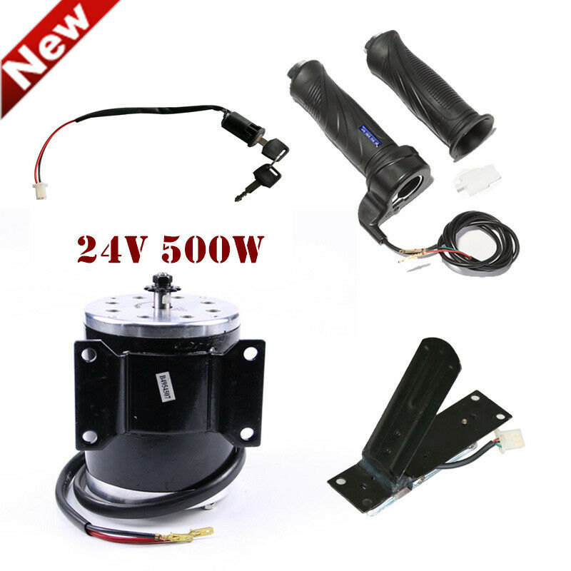 MY1020 24V Brushed Motor Ignition Switch Througetle Foot Pedal Twist Grip Go Kart