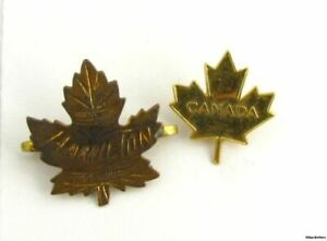 CANADA-PINS-Vintage-Souvenir-Hamilton-Ontario-Maple-Leaf-Collectible-Estate