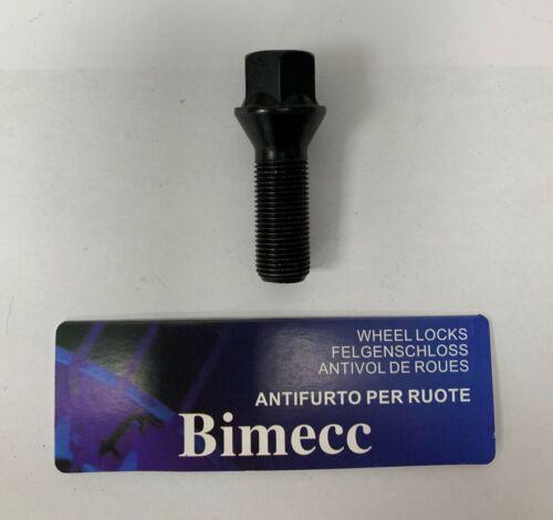 1 x M14X1.25 Noir 60 ° Roue Alliage Boulons filetage 33 mm Fits BMW F01 G11 G12