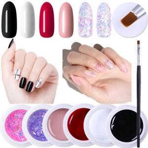 Harunouta-6Boxes-Nagel-Gellack-Brush-Pink-Glitzer-Sequins-Soak-Off-Nail-UV-Gel