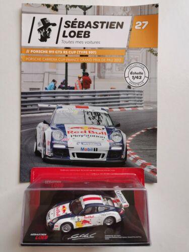 VOITURE DE RALLYE 1//43 SÉBASTIEN LOEB PORSCHE 911 GT3 RS CUP 2012 EN BOÎTE NEUF