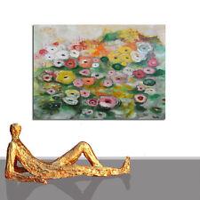 ☻☻ SEEROSEN GEMÄLDE ☻☻ ABSTRAKT DESIGN BILD XL GARTEN SOMMER BÜRO NEU☻ 140 x 100