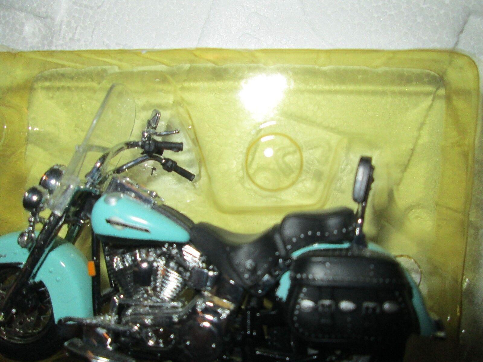Harley Davidson CHEVY SUBURBAN W W W  MOTORCYCLE HERITAGE SOFTAIL 1 24 DAMAGED BIKE bc0468