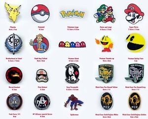 Video games character icons badges Iron on Sew on Embroidered Patch