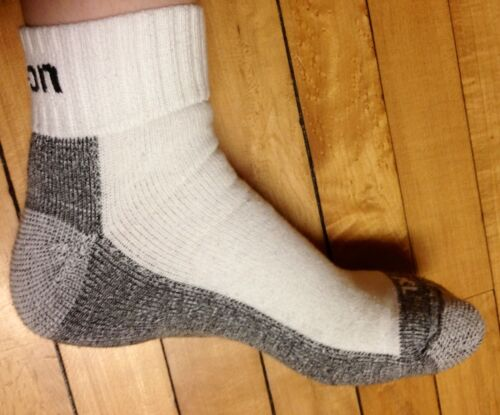 6 Pairs Men/'s White Snap On ANKLE Socks L ~ FREE Shipping ~ MADE IN USA     New!