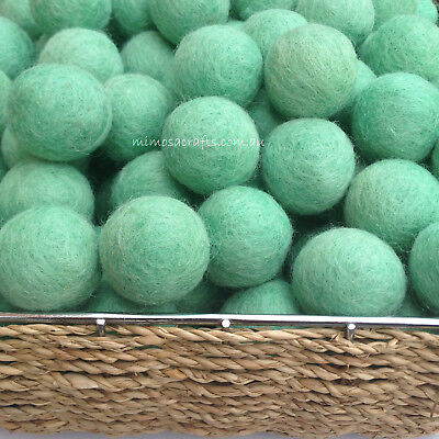 2cm Felt Balls Handmade Teal Colour Woollen Pom Pom Beads DIY Crafts Supplies