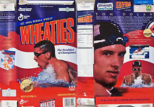 1996 Tom Dolan US Olympic Gold Medal Wheaties Cereal Box  s133