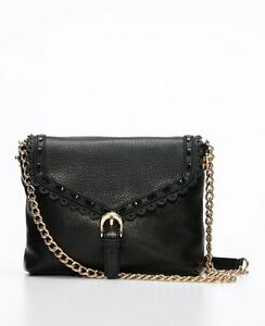 Image Is Loading Ann Taylor Leather Crossbody Bag In Black Org