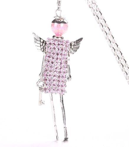ENGEL ROSIE Puppenanhänger mit Karabinerhaken Kette 80cm SHOPPING QUEEN