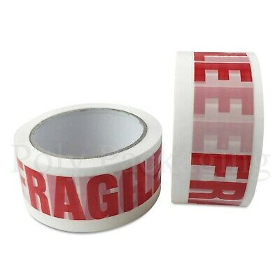 24 36 72 rolls parcel BROWN// CLEAR// FRAGILE or LOW NOISE FRAGILE 48mmx66m TAPE