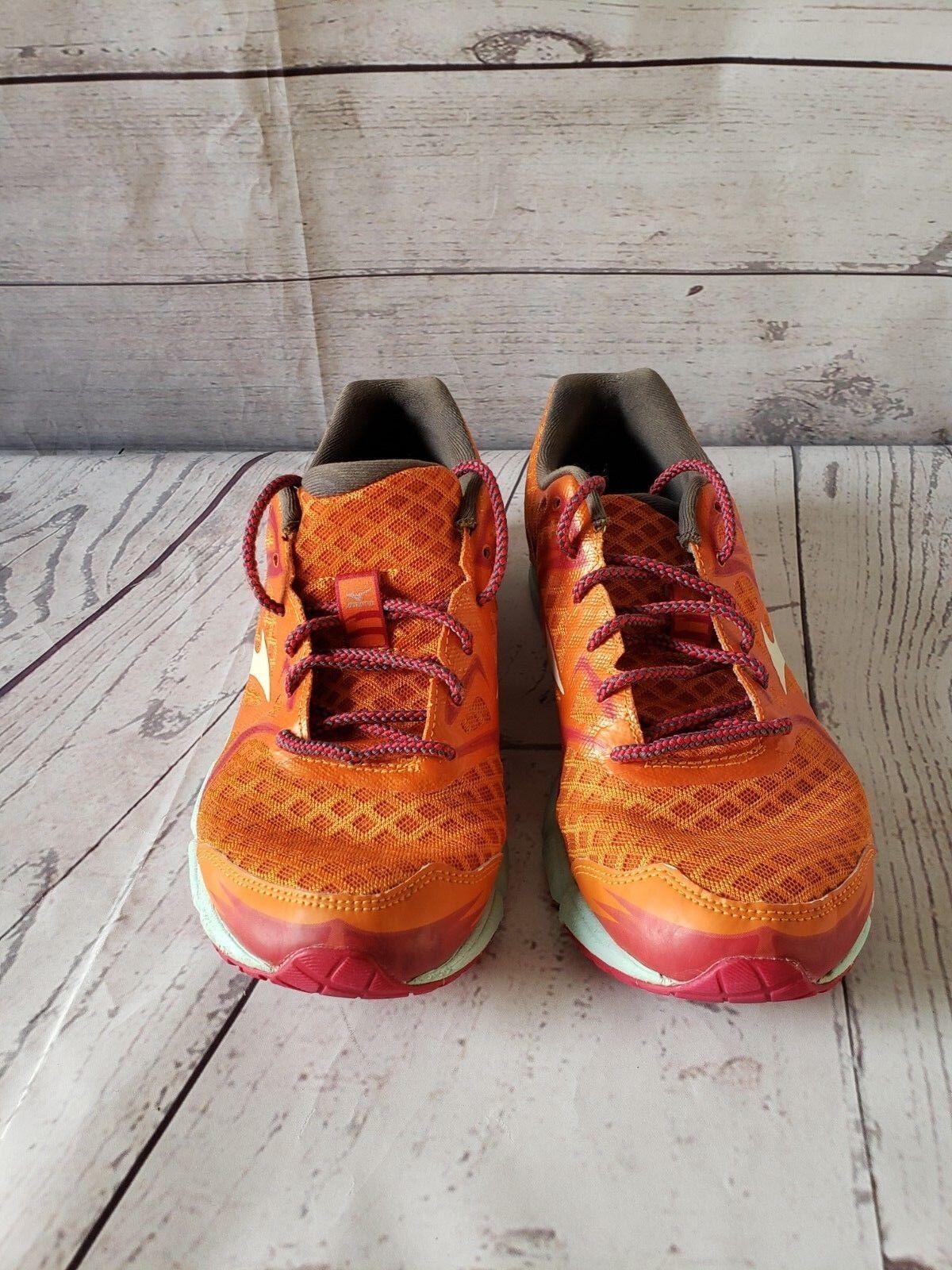 Mizuno 11  Donna Size W9 Running Shoe X10 Orange Lace Up