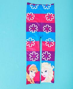 FROZEN Disney Anna Elsa Girls Tights  2-3 4-5 6-7  Years