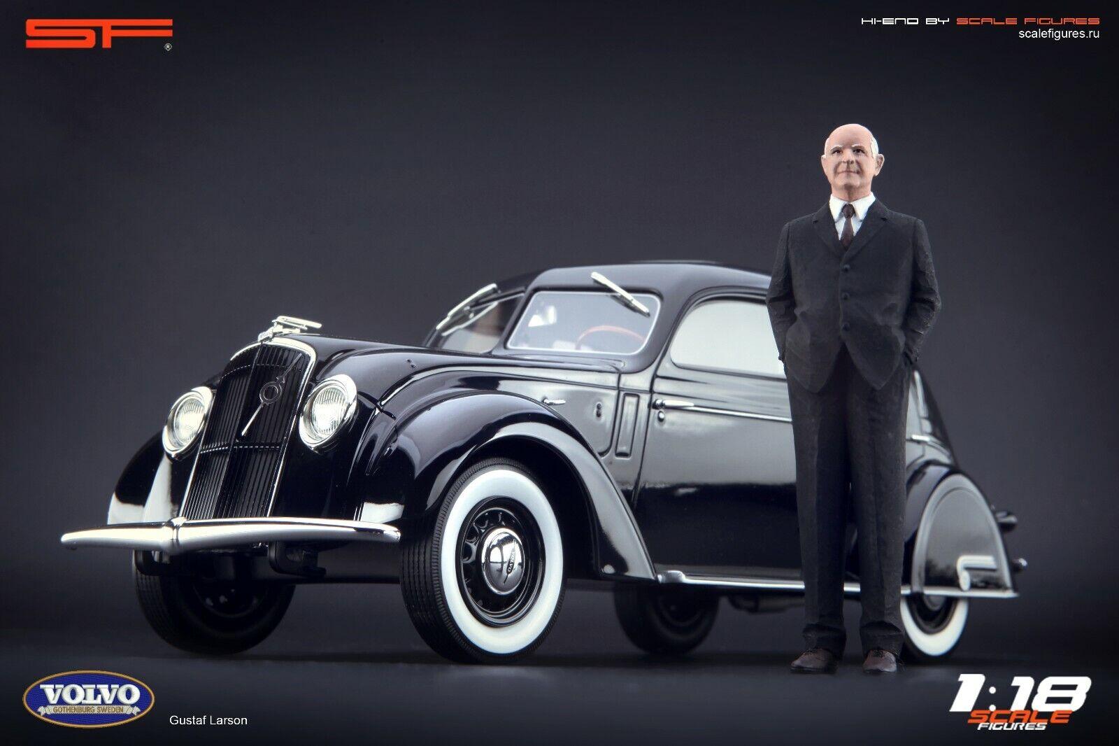 1 18 GUSTAF Larson FIGURINA MOLTO RARO    Nessun auto    Volvo fondatore