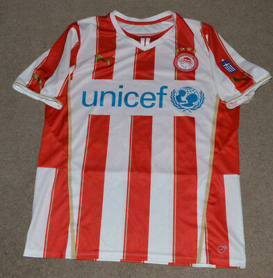 Carl Medjani Olympiacos Soccer Football Puma Jersey Olympiakos Greece Xl Ebay