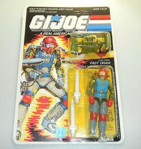 *RECARDED* 1987 GI Joe Fast Draw Figure Complete Sealed *CUSTOM File Card Back*