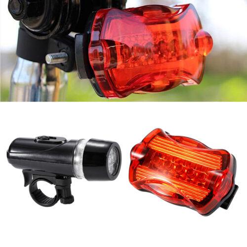 Magic Night 5 LED Bycicle Lights Front Rear Head Light+Taillight Flashlight Lamp