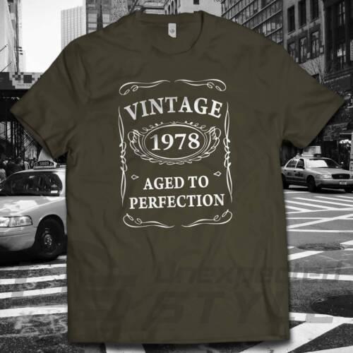 40th Anniversaire Vintage 1978 Aged to Perfection T-shirt cadeau 40 ans