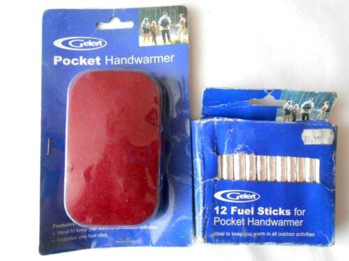 Gelert Pocket Handwarmer and 12 Fuel Sticks Dog Walking Fishing Hiking etc...