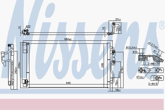 Nissens Condensador 940628 Compatible con BMW Serie 4