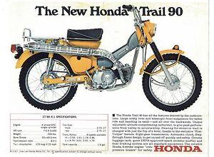 1969 honda trail 90 model ct-90 k-1 motorcycle sales brochure