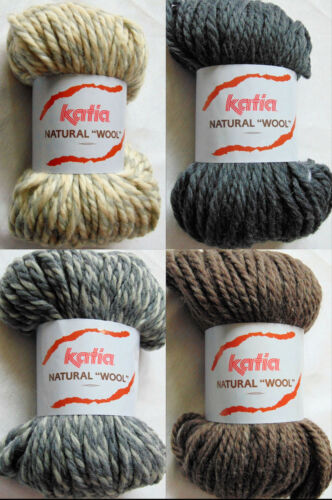 Wolle 100g // 5,99€ NATURAL WOOL Katia 100g Garn