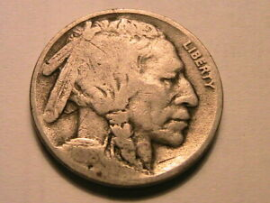 1918-D-Buffalo-Nickel-Nice-Good-Toned-Original-Indian-Head-5-Cent-WWI-Coin