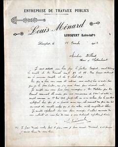 """LOUISFERT (44) Ets du BATIMENT """"Louis MENARD"""" en 1912 - France - État : Occasion : Objet ayant été utilisé. Consulter la description du vendeur pour avoir plus de détails sur les éventuelles imperfections. Commentaires du vendeur : """"CORRECT"""" - France"""