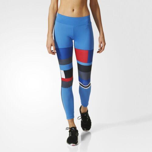 Adidas Women/'s WoW ADN long Bold Blue Running Fitness Leggings ap9528