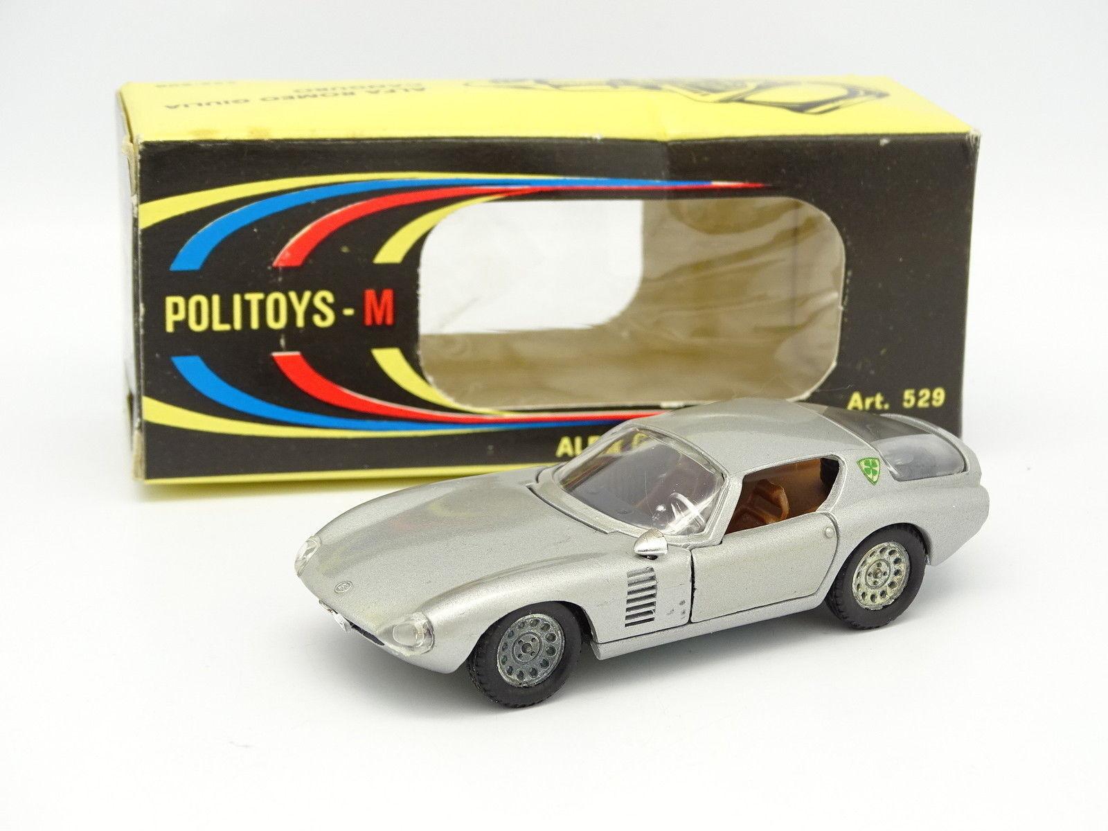 Politoys Licenza Solido 1 43 - Alfa Romeo Giulia Canguro Grigia 529