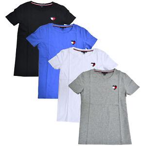 6905728f Tommy Hilfiger Womens T-shirt Short Sleeve Stretch Tee Heart Logo ...