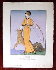 """Gazette du Bon Ton Print Pochoir ~ March 1913, No 5 ~ """"Diane"""" by Marty"""