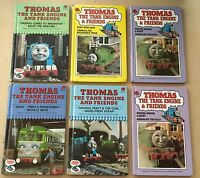Six (x6) Old Ladybird Hardback Books - THOMAS THE TANK ENGINE, mid 1980's
