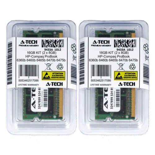 16GB KIT 2 x 8GB HP Compaq ProBook 6360b 6460b 6465b 6470b 6475b Ram Memory