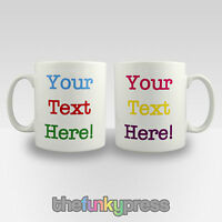 Personalised Mug Cup Any Design With Your Text Coffee Tea Gift