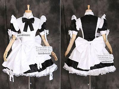 a-024 GOTHIC LOLITA MAID Classic Uniform Cosplay Kostüm Kleid costume dress Maß