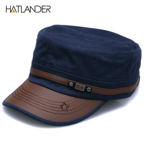 New Fashion Cotton Military Hats For Men Women Adjustable Flat Cadet Patrol Caps