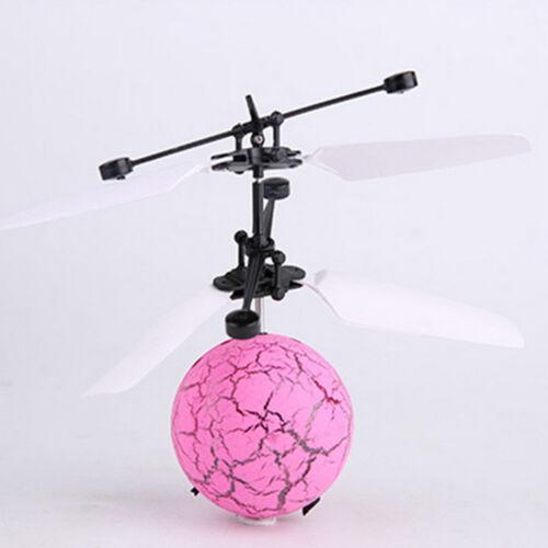 Fliegender LED Ball Helicopter Hubschrauber RC Induktion Sensor Kinder SpielzeuX Ferngesteuertes