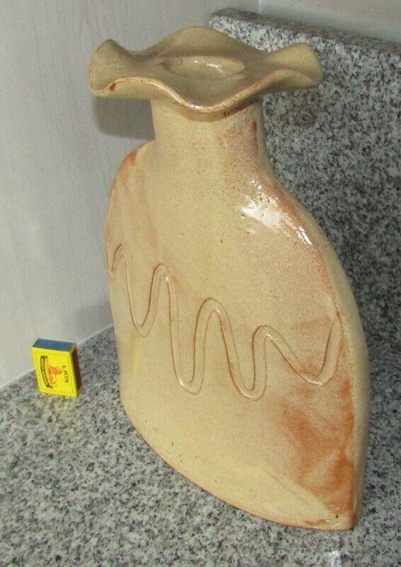Glazed Clay Vase - w=27cm; l=10cm; h=34cm