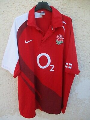Maillot rugby ANGLETERRE ENGLAND 2008 2009 away NIKE shirt jersey rouge 3XL XXXL | eBay