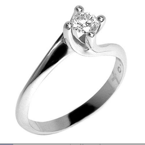 Anello Solitario Valentino Diamante Naturale  0,11 ct gold 18  San Valentino