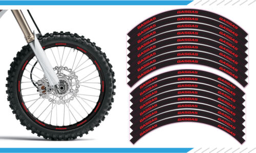 "GasGas EC Motocross Supermoto Wheel Rim Stickers Decals 21/"" 19/"" 17/"" Enduro"