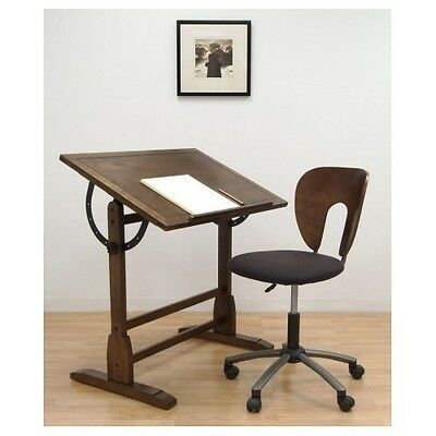 Groovy Vintage Drafting Table Chair Architect Drawing Desk Rustic Wood Office Furniture Ebay Onthecornerstone Fun Painted Chair Ideas Images Onthecornerstoneorg