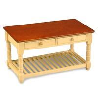 Reutter Dollhouse Work Table 1.727/9 Dark Top Bottom Rack Miniature 1:12 Gemjane