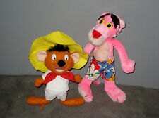 Plush/Peluche  PANTHERE ROSE et  souris SPEEDY GONZALES  ( Haut 22/30 cm