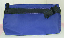 New LANCOME PURPLE with Black Bow Cosmetic Makeup Bag Case